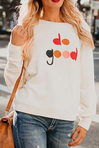 Fashion Round Collar Letter Printed Hoodie