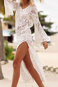 Sexy Lace Hollow Beach Casual Dress