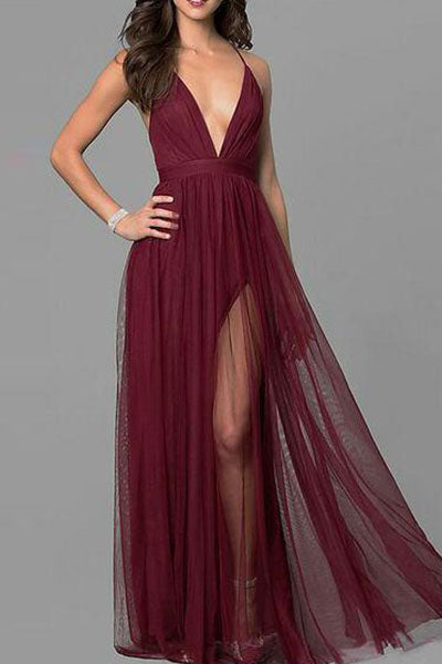 Chiffon Sleeveless Elegant Evening Dress