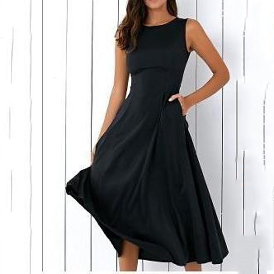 Slim Fit Large Pendulum Skater Dress