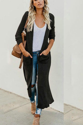 Sexy V-Neck Pure Color Knitted Cardigan Jacket