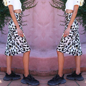 Holiday Wind Leopard Skirt