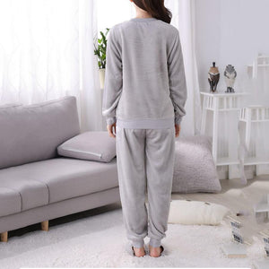Home Service Hick Coral Fleece Long Sleeve Suit Pajamas