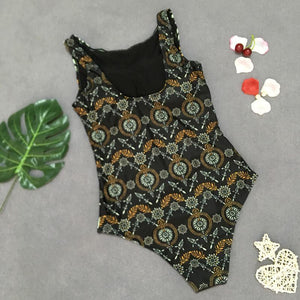 Sexy Bikini Retro Print One-piece Swimsuit