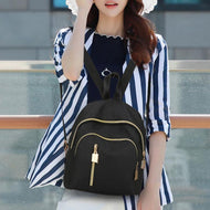 Oxford Cloth Waterproof Casual  Backpack Tide Wild Handbag