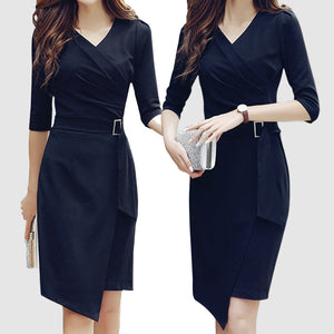 Temperament Sexy V-Neck Long Bodycon Dress