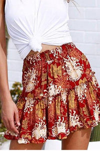 Fashion Printed Foulence Skirt
