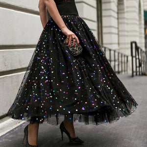 Fashion sequined half-length classic skirt
