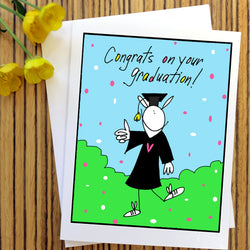 RabbitRabbit - Congrats on your Graduation Card