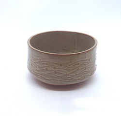 Needle + Fern - Ceramic Bowl - Kelp Texture
