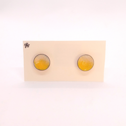 Heather Gunn- Earrings - Copper Enamel Studs Yellow