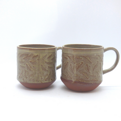 Needle + Fern - Latte Mug - Scattered Ferns