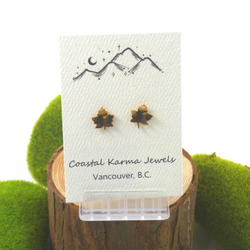 Coastal Karma Jewels- Earrings - Maple Leaf