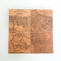 Reclaimed Print - Coaster - map