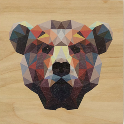 "Reclaimed Print - 14""x14"" Natural - Animal Geometric"