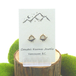 Coastal Karma Jewels- Earrings - Pacific Crest Humback Whale