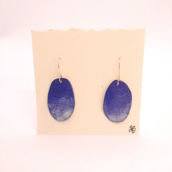 Heather Gunn- Earrings - Enamel Petals Blue