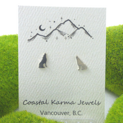 Coastal Karma Jewels- Earrings - Howling Wolf
