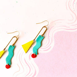 Scandinazn - Earrings - Squiggly Mobile Earrings