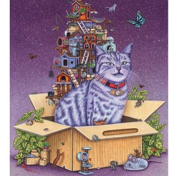 Brandy Masch - Print - Cat in the Box