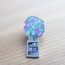 Craftedvan - Enamel Pin – Balloons and Bookshelf