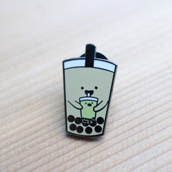 Craftedvan - Enamel Pin – Milk Tea BBT