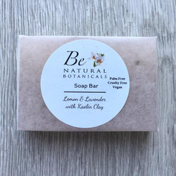 Be Natural Botanicals- Soap Bar – Lemon & Lavender with Kaolin Clay