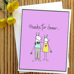 RabbitRabbit - Thanks for dinner Card
