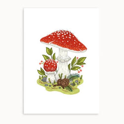 Linden Paper Co. - Prints - Fly Agaric Mushrooms