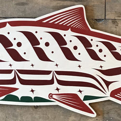 Reclaimed Print – Ornament – Haida Salmon Male