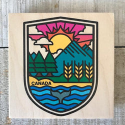Reclaimed Print - Coaster – Crest
