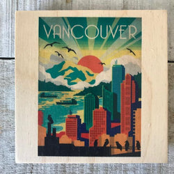 Reclaimed Print - Coaster – Vancouver Scenes