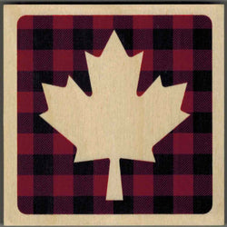 Reclaimed Print - Coaster – Plaid