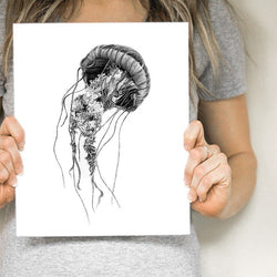 Pen on Paper - Prints - Jellyfish