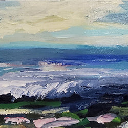 Jennifer Harwood - Original Art – Bright Skies Blue Sea 8x18