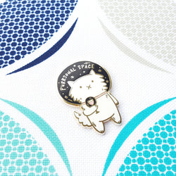My Cat Is People - Enamel Pin – Purrsonal Space
