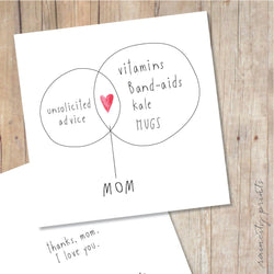 Raincity Prints - Cards - Mom Venn Diagram