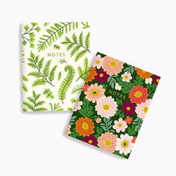 Linden Paper Co. - Notebooks – Summer Ferns + Chrysanthemum Notebook Set