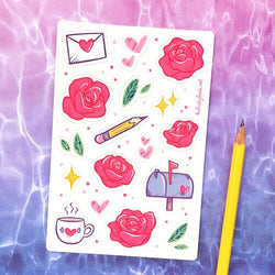 The Funky Fresh - Sticker - Post & Roses Sticker Sheet