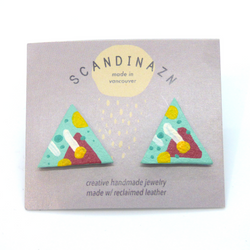 Scandinazn - Earrings - Pattern Triangle Studs