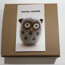 Honey Canada - DIY Felting Kit - Owl