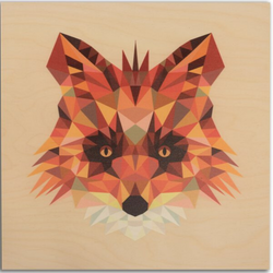 "Reclaimed Print - 7""x7"" Natural- Animal Geometric"