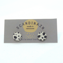 Scandinazn - Earrings - Spotted Black & White Studs