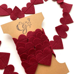 Emerald And Ginger - Felt Heart Garland 110""