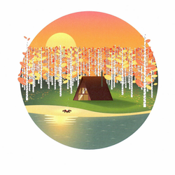 Justindeed - Prints - Fall Cabin