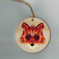 Reclaimed Print – Ornament – Geometric Fox