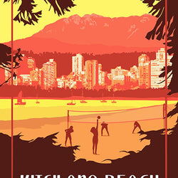 Mike Swallow– Print – Kitsilano Beach