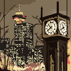 Mike Swallow– Print – Steam Clock
