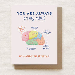 Quirky Paper Co. – Card – Brain