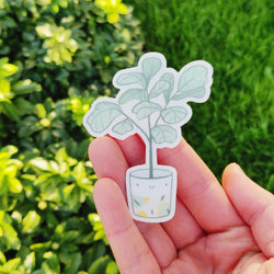 Mint and Woolly - Sticker - Ficus Plant